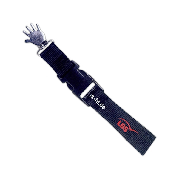 SS Poly Lanyard Hand-Shaped Alligator Clamp w/Snap Buckle