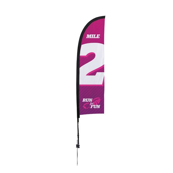 7' Premium Blade Sail Sign, 1-Sided, Ground Spike