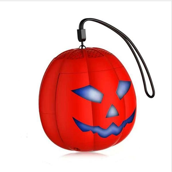 Portable Wireless Pumpkin Bluetooth Speakers Key Chain