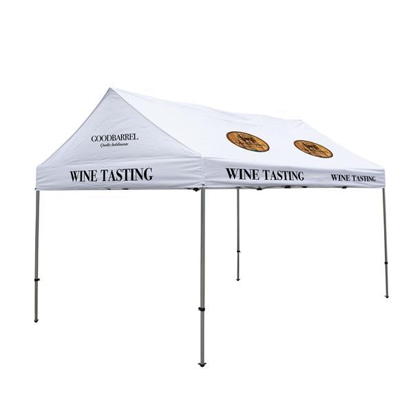 10' x 15' Gable Tent Kit (Full-Color Imprint, 12 Locations)