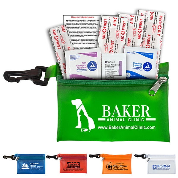 Parkway Plus - 8 Piece First Aid Kit with Carabiner