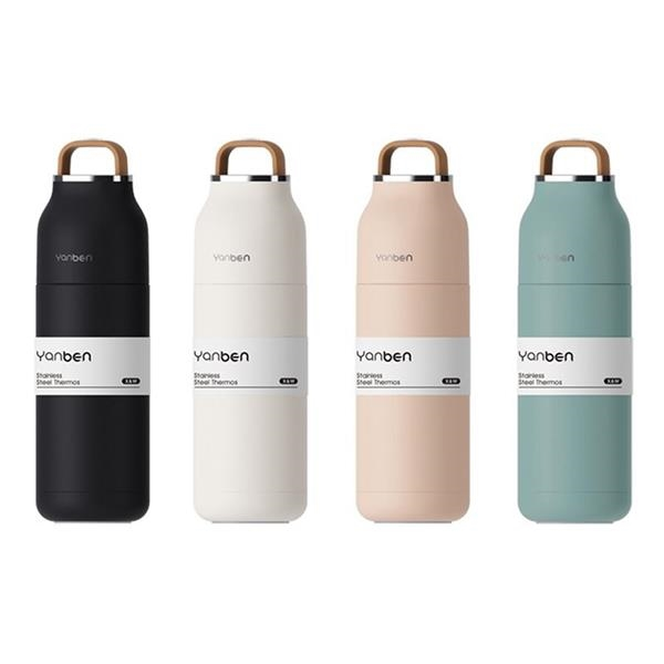 12 oz. Double Wall Vacuum Bottle with Carrying Handle