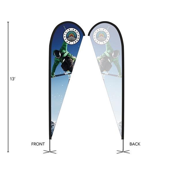 DisplaySplash 13' Single-Sided Custom Teardrop Flag