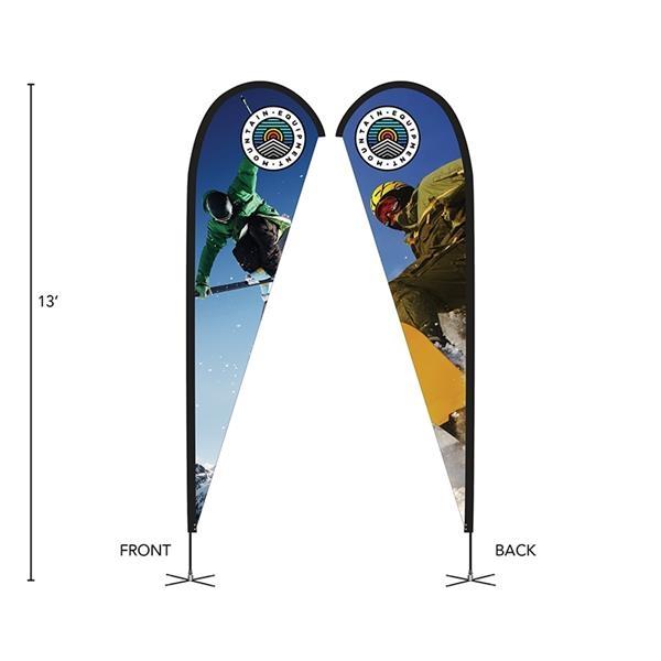 DisplaySplash 13' Double-Sided Custom Teardrop Flag