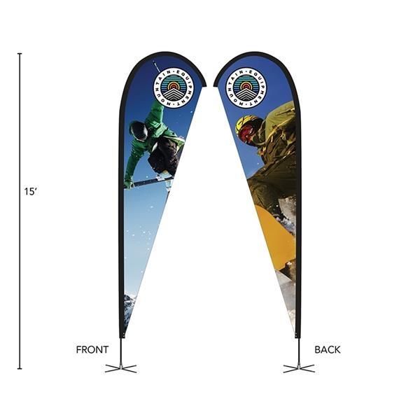 DisplaySplash 15' Double-Sided Custom Teardrop Flag