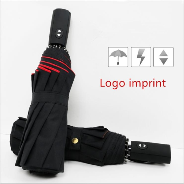Doubel layer automatic compact travel umbrella