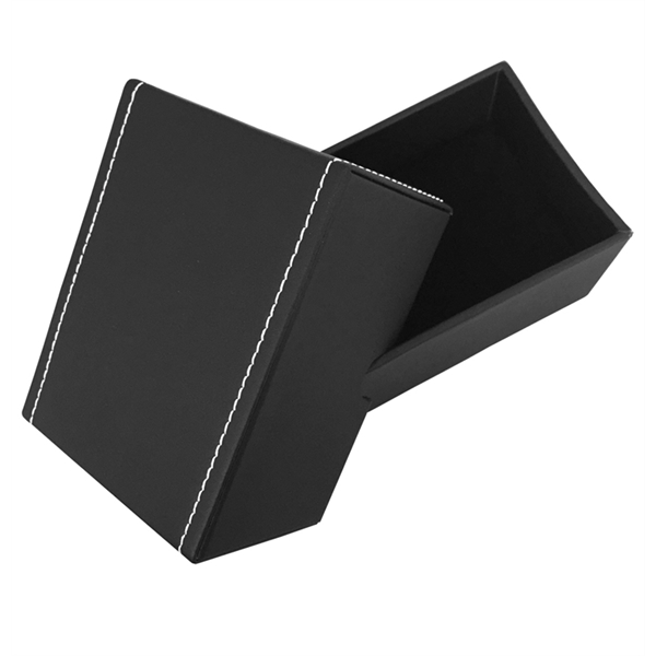 Black Leatherette 2-Piece Gift Box