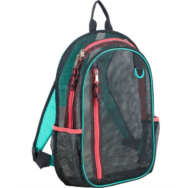 DDI 17 Eastsport Classic Metro Mesh Backpack - GreyTealPin