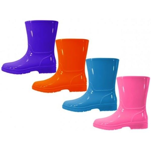 Youths' Plain Rubber Rain Boots - Size 11-3