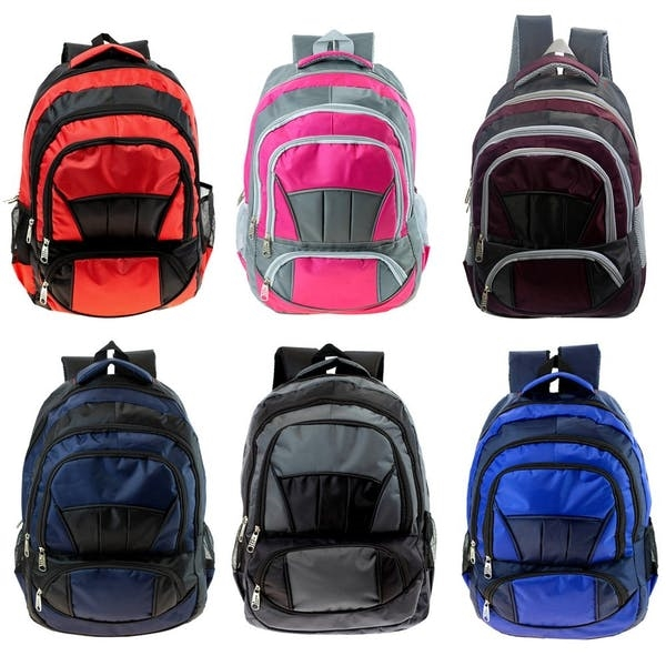 DDI 15 Premium Padded Backpack - 6 Assorted Colors