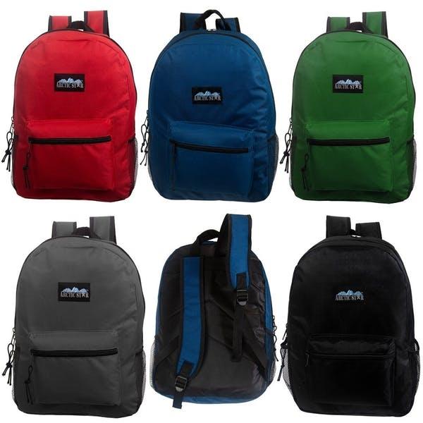 DDI 17 Classic Backpacks - 5 Solid Colors