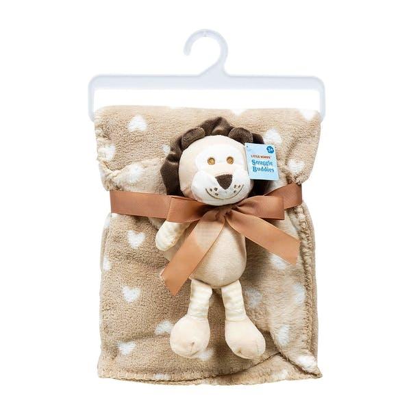 Baby Blanket - TanWhite Lion Plush