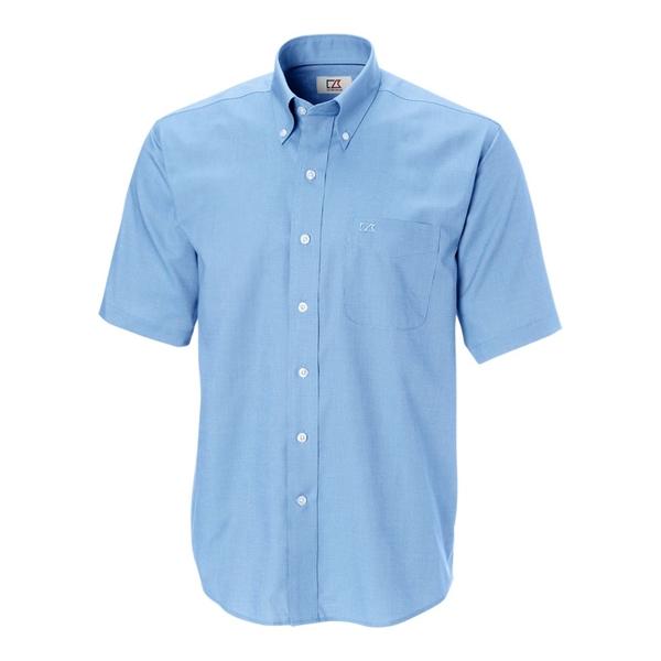 Big & Tall Short-Sleeve Epic Easy Care Nailshead Shirt Bi...