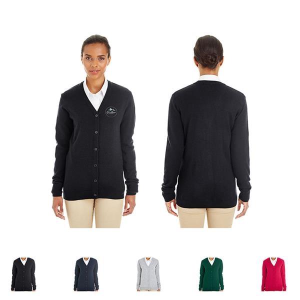 Harriton® Ladies' Pilbloc™ V-Neck Button Cardigan Sweater