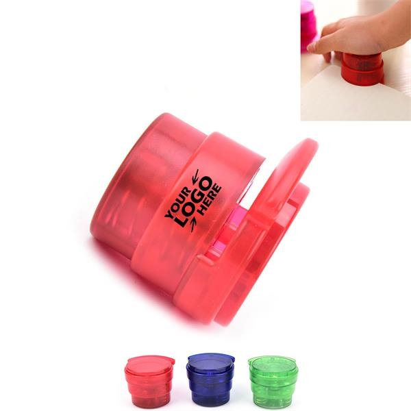 Colorful Plastic Staple-free Round Paper Stapler
