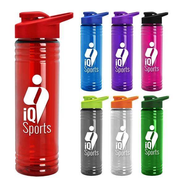 Slim Fit 24 oz. Water Bottles - Drink Thru Lid (Colors)