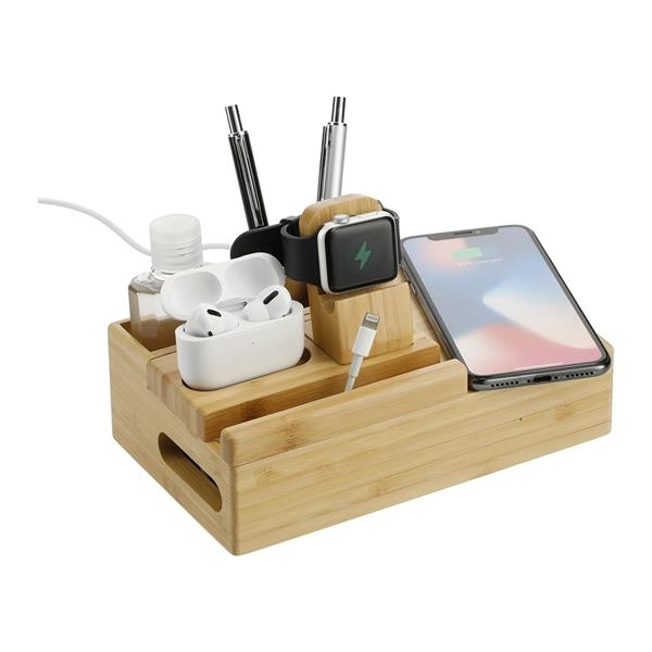 Bamboo Fast Wireless Charging Dock Station