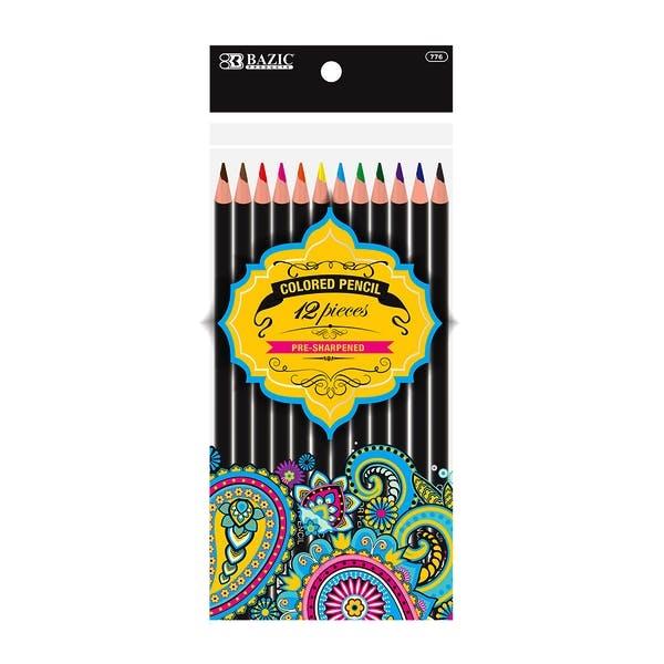 BAZIC Colored Pencil Designer Series - 12 Count Assorted C