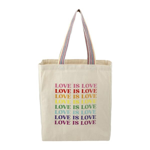 Rainbow Recycled 6 oz. Cotton Convention Tote