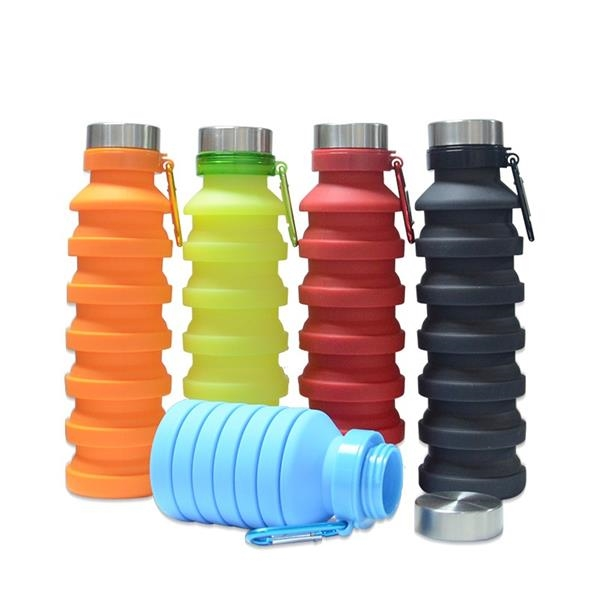 16oz Collapsible Silicone Water Bottle