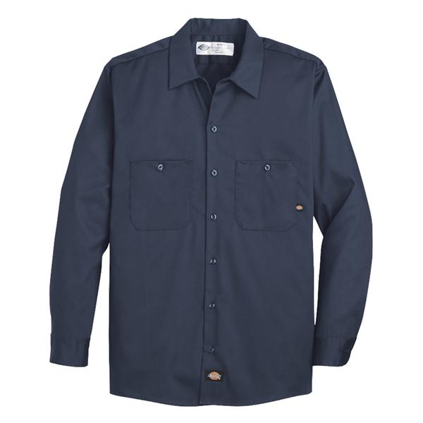 Dickies Industrial Cotton Long Sleeve Work Shirt - Long S...