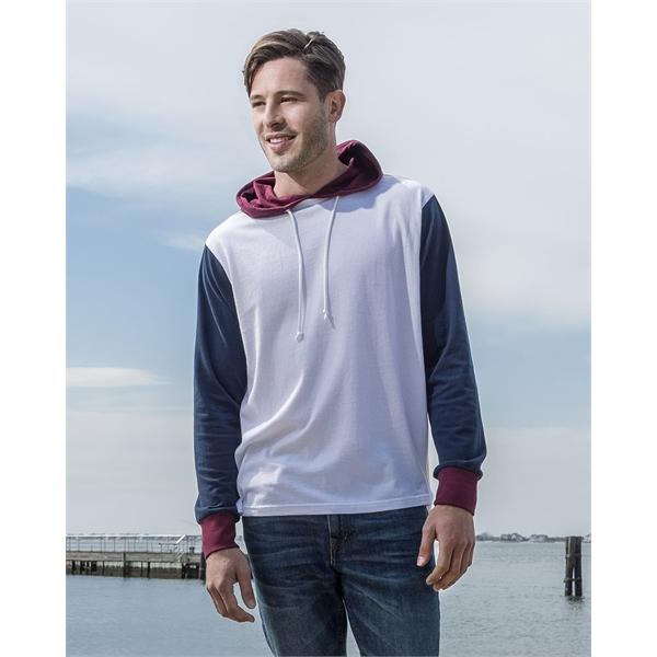 MV Sport Dean Peached Jersey Colorblocked Hooded Long Sle...