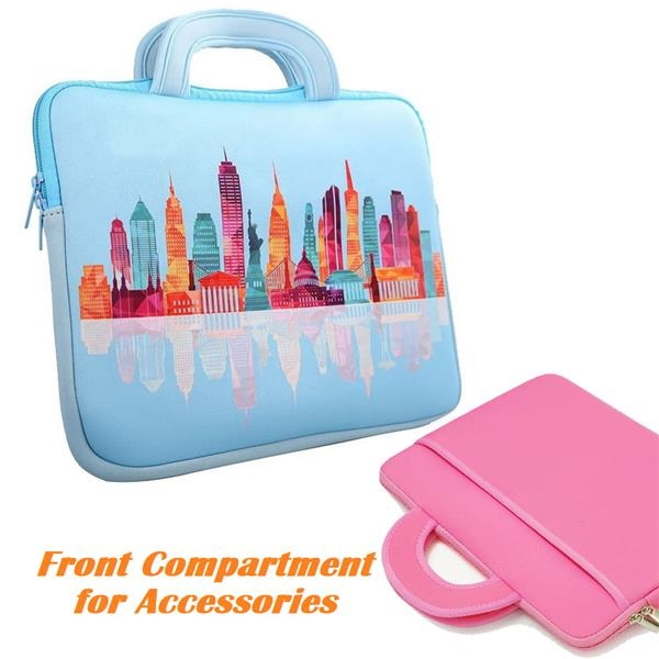 Dye-Sublimation Padded Laptop Sleeves w/ Carrying Handles