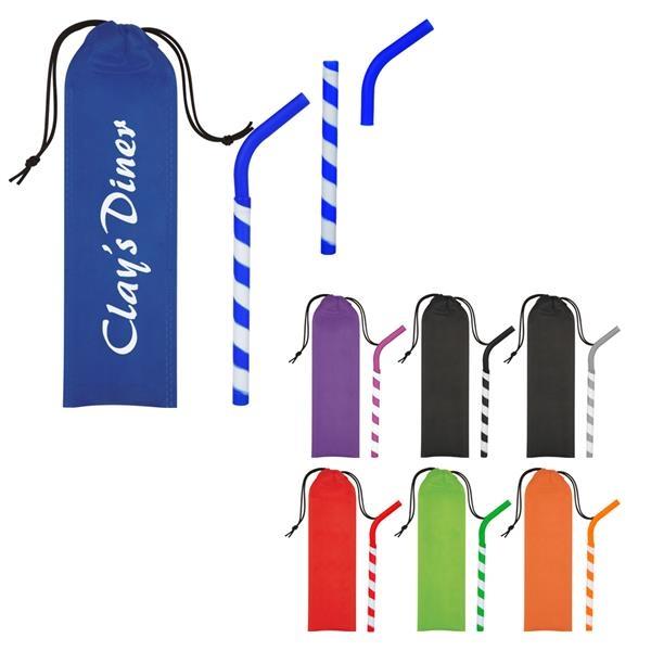 GreenPaxx Tie-Dye Cool Straw With Pouch