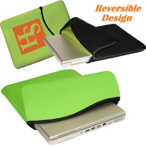 Reversible Neoprene Laptop Sleeve w/ Custom Imprint 15
