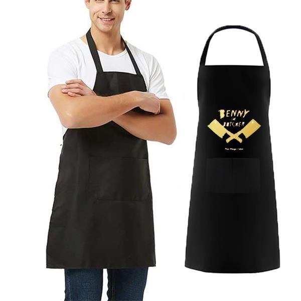 Butcher Apron w/ Front Pocket & Adjustable Strap 27