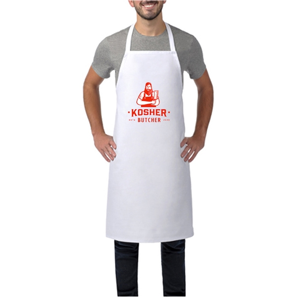 Wide Butcher Apron w/Custom Logo & Adjustable Strap 28