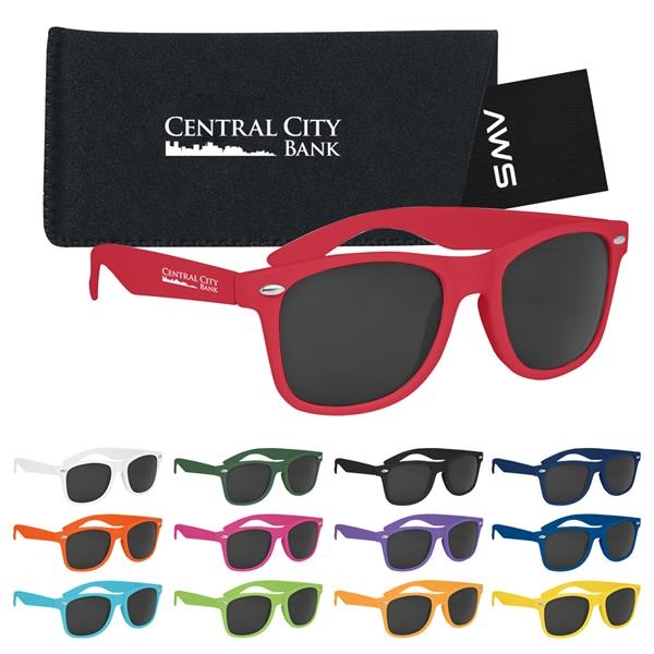 Aws Velvet Touch Malibu Sunglasses With Pouch & Hang Tag