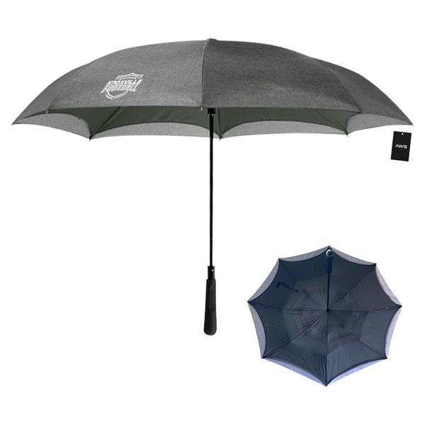 "AWS 48"" Arc Heathered Inversion Umbrella"
