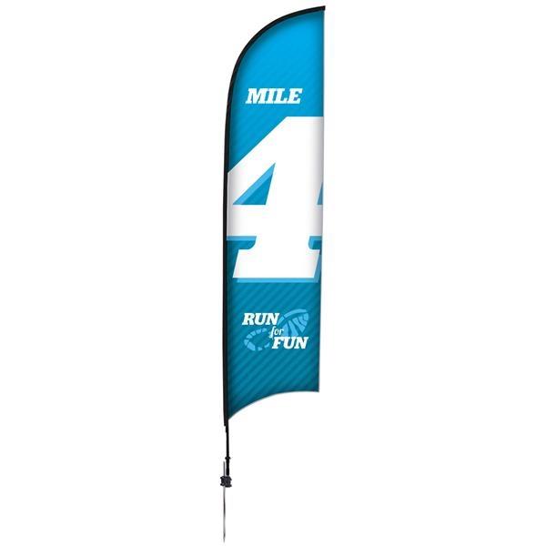 13' Premium Razor Sail Sign, 1-Sided, Ground Spike