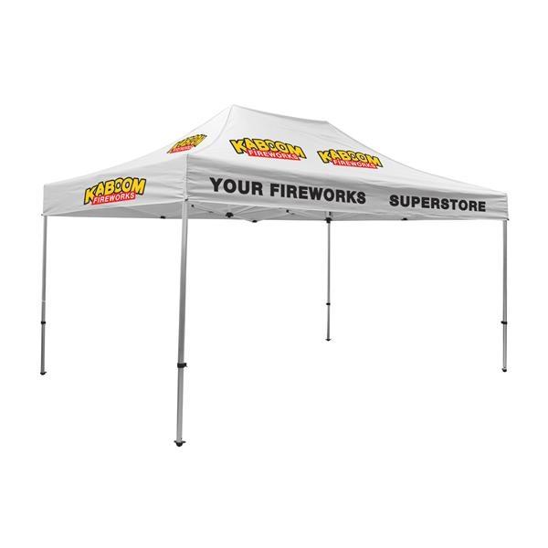 15' Premium Tent Kit (Imprinted, 10 Locations)