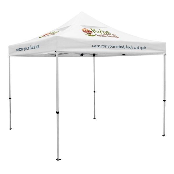10' Premium Tent, Vented Canopy (Imprinted, 7 Locations)