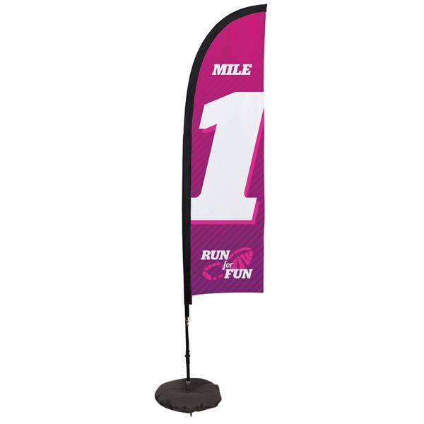 7' Premium Blade Sail Sign, 1-Sided, Scissor Base