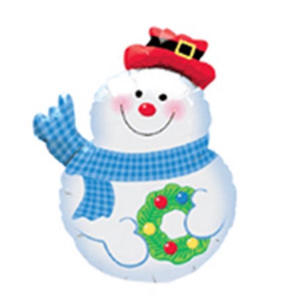 Snowman Balloon - Mylar balloon. Snowman.