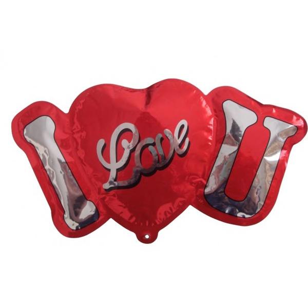 I Love You Balloon - Mylar balloon. I love you.