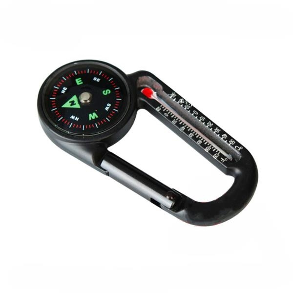 Carabiner Thermometer Compass