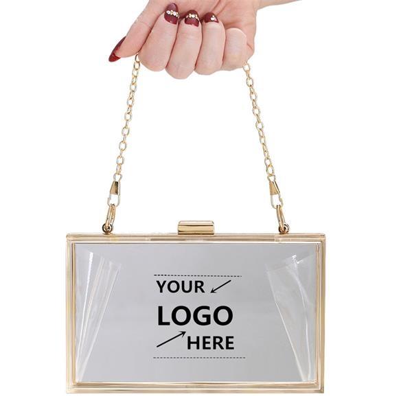 Acrylic clear rectangle shoulder bag