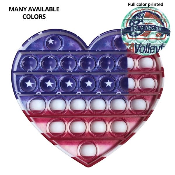 Pop It Fidget Toy - Heart Full Color