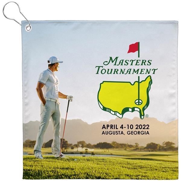 12x12 Sublimated Golf Towel w/Grommet - 200GSM - Sublimation