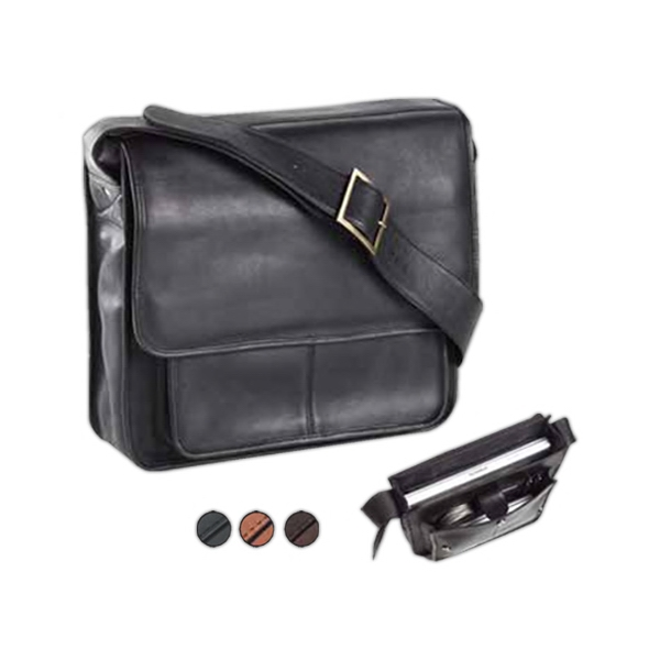 Executive Leather Laptop Sling Bag Photo