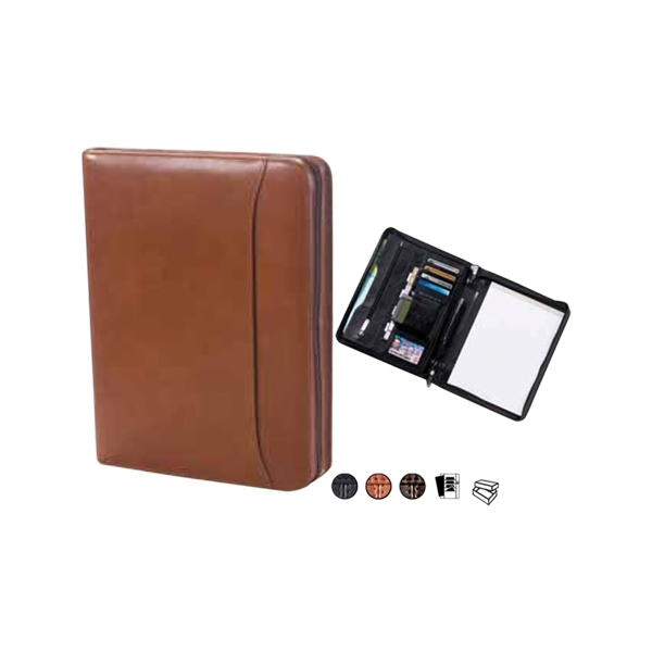 Tuscan - Leather Conference Padfolio With Exterior Full Length Vertical Pocket Photo