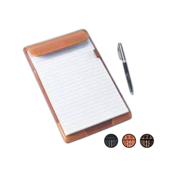 "9.5"" X 6"" X 0.5"" - Full Size Leather Tablet Holder With Elastic Pen Loop And Document Pocket Photo"
