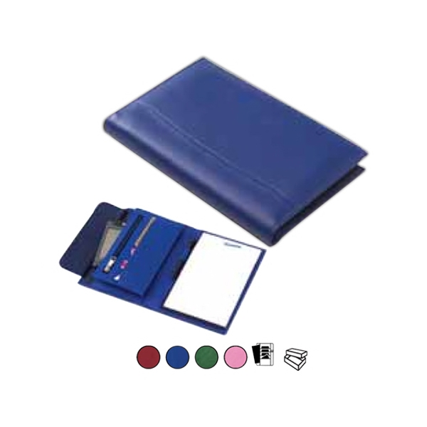 Colored Leather Junior Padfolio With Vertical Gusset Pocket Photo