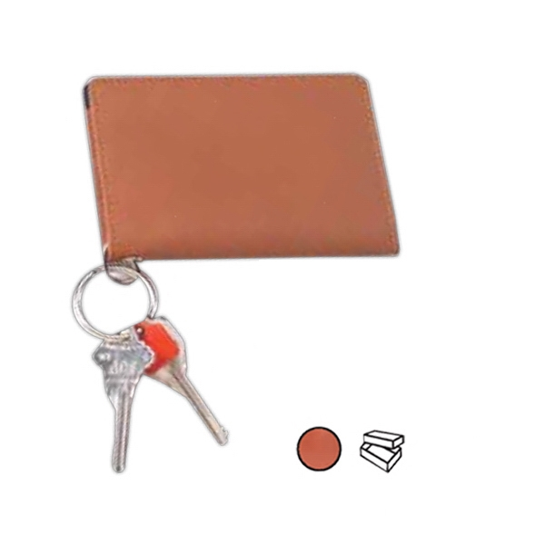 Leather Id Keychain Wallet With Clear Id Window And Zipper Coin Pocket Photo