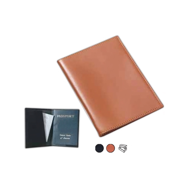 Leather Passport Cover With Cut Away Slot Photo