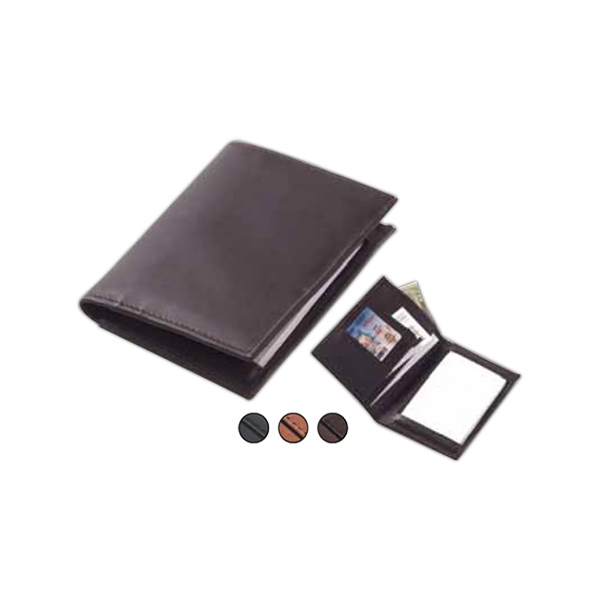 Jot-this - Leather Jotter With Pen Loop, Business Card/credit Card Slots And Billfold Photo
